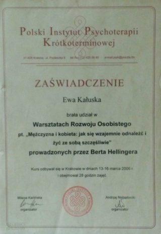 Warsztat Rozwoju Osobistego - prow.. Bert Hellinger